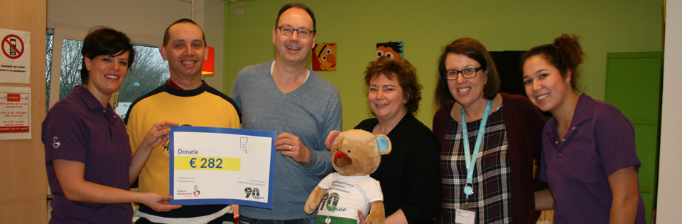 Donatie kinderafdeling Albert Schweitzer ziekenhuis